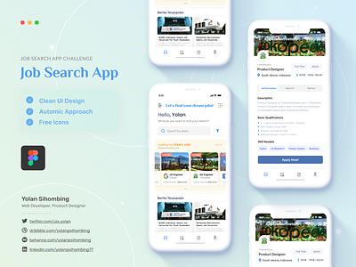 Jobs Search App: Redesign Challenge work app sketch redesign job app ui kit figma job search app design guidelines design system ui design mobile app app