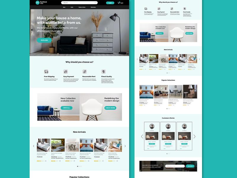 Furniture website design design furniture website xd design adobexd designer uidesign uxdesign uiuxdesign uiux webdesigns website design website
