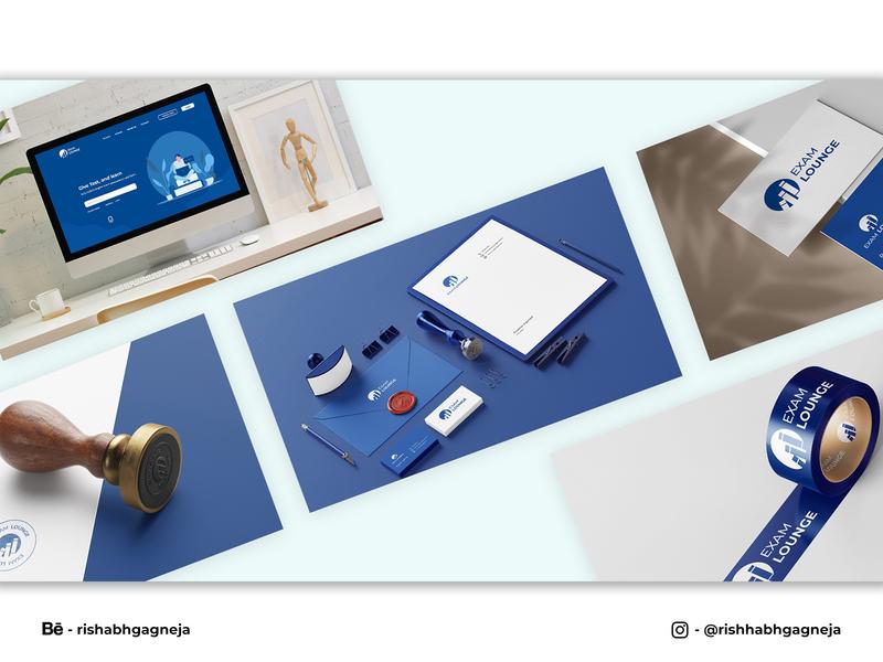 Exam Lounge Brand Identity Design branding poster design photoshop ui illustration typography designer design mockups logodesign brandidentitydesign brandidentity brand