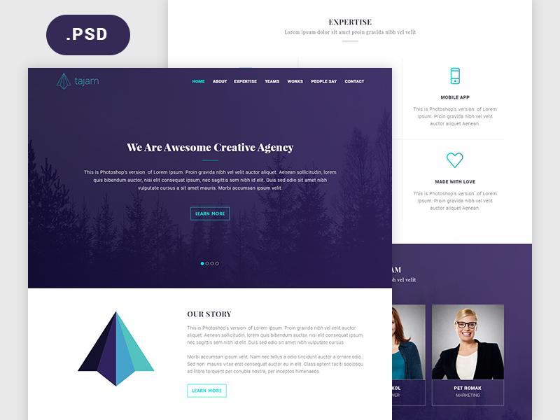 Agency Website PSD freebies freebie freepsd free agency template creative landingpage landing page free psd