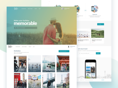 SweetEscape Homepage travel web homepage landing page ux ui