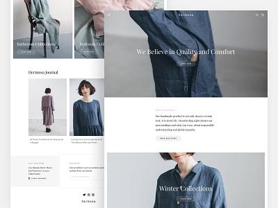Minimalism Fashion E-commerce store ux ui indie minimalism ecommerce landing page