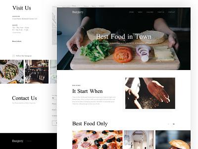Restaurant Profile landing page homepage ux ui food restaurant