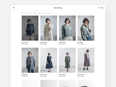 Catalog - Minimalism Fashion E-commerce store ux ui indie minimalism ecommerce landing page