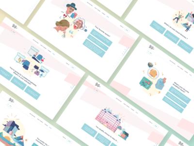 Quiz - What kind of escapist are you ? ui ux web quiz clean minimalism