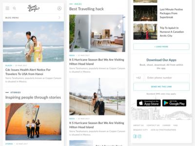 Mobile Web - Blog Improvement improvement ux ui blog