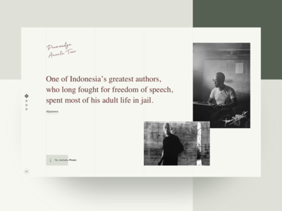 Pramoedya Ananta Toer - Story web ux ui