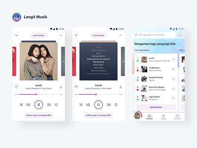 Langit Musik - Music Player music musicapp design mobile app ux ui