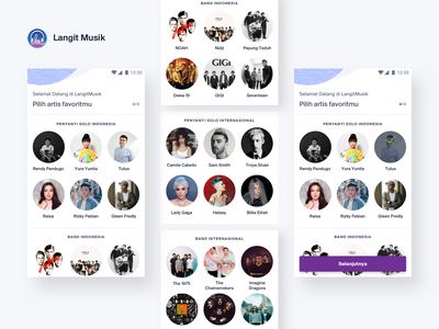 Langit Musik - Personalization musicapp mobile apps mobile app ux ui uidesign
