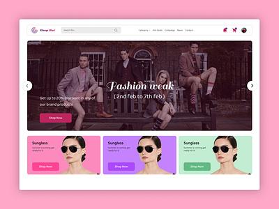 Fashion web landing page