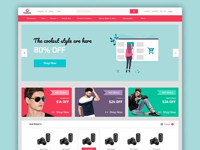 Ecommerce web ui design branding website design webdesign ui design ecommerce design