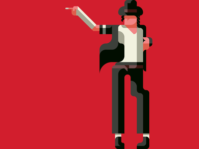 Michael Jackson, King of Pop -with a Drawing app- michael jackson king of pop michael flatdesign flat mj