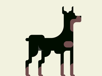 Doberman  -with a Drawing app-
