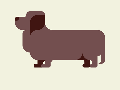 Dachshund -with a Drawing app-
