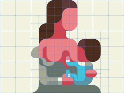 GRID  Breast-Feeding 授乳 nursing lactation breastfeeding flatdesign iconic geometry minimal grid patchworkapp