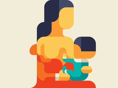 Breastfeeding (MY BELOVED FAMILY 4) iconic minimalism nemury minimal patchworkapp geometry baby nursing lactation breastfeeding