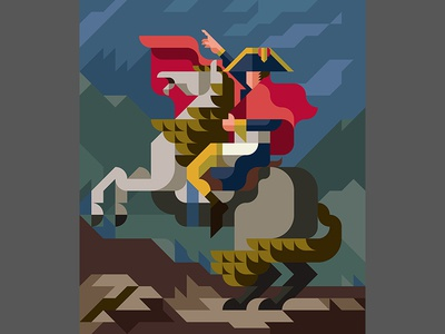 "MASTERPIECE ""Napoleon Crossing the Alps"""