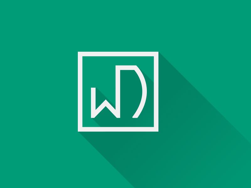webdevHH logo emerald longshadow practice webdevhh