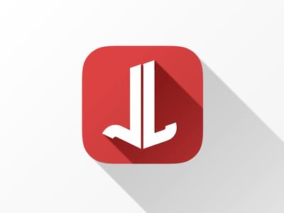iOS7 longshadow icon