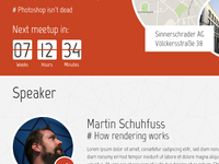 Meetup web layout draft (#dec0de)
