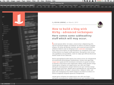 Lazy sunday blog layout attempt