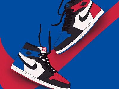 Air Jordan 1 nike air jordan 1 nike shoes nike retro airjordan1 airjordan shoes sneakers design illustration