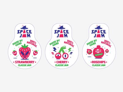 Space Jam / Jam label design