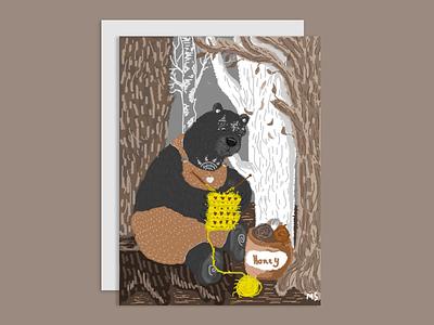 Bear Bo bear magic forest digitalart photoshop illustration design digital bookillustration art