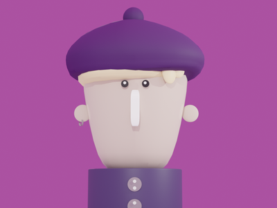 Style blender character purple 3d art 3d digital design art