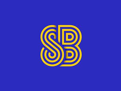 SB monogram leeds united the square ball blue yellow leeds lufc monogram sb