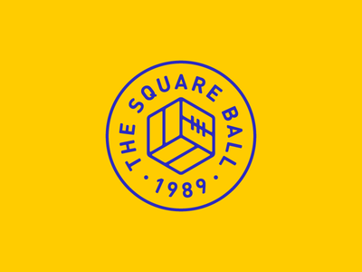 The Square Ball leeds united the square ball leeds lufc blue yellow roundel ball icon logo badge