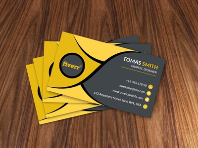 Business Card Design for my Fiverr Gig professional business card corporate design trendy branding adobe illustrator graphic design business card design