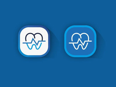 Dental App Icon custom dental logo dental care logo dental logo ideas dental logo vector dental logo graphic design illustration typography icon ux ui app logo design branding