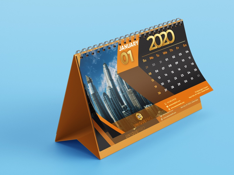 Desk Calendar Design adobe illustrator illustration icon desk calendar calendar design calendar typography logo design graphic design ux ui branding