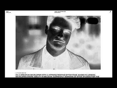 2020 portfolio page - with webGL/shaders three.js webgl sine waves my face portfolio glsl shaders