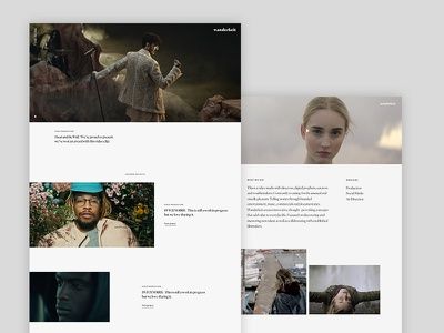 Wanderkeit work and detail page redesign ux typography ui minimal webdesign clean video