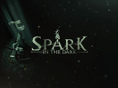 "Logo  ""Spark in the dark"" design gamedev indie game logo game"