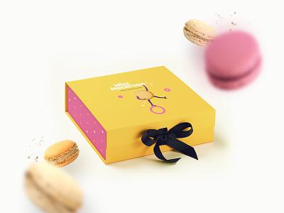 Macaroons macaroons macaroon cake packaging packaging logo character design character design typography illustration branding