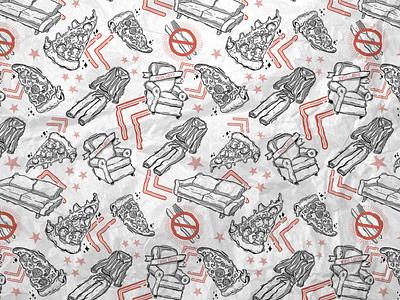 Pizza Hut Greaseproof Paper pizza pizza hut packaging design illustration branding