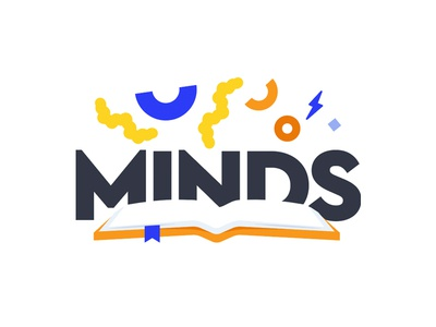 Minds - library logo illustration typography branding logo a day logo