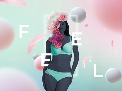 Feel lingerie art direction advertising design branding