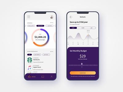 Sustainable Budget - Mobile App bank app finance app banking finance design app ux design uiux ui design ui mobile