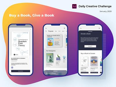 Adobe XD Creative Challenge, January 2020 mobile xddailychallenge uiux ui