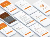 Login & Register Mobile App Views