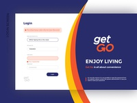 Login Screen Web App Design