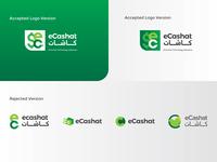 Ecashat Logo design for an online payment gateway