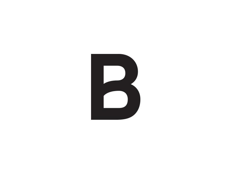 Barbara Faludi Logo icon letter b simple black minimal logo