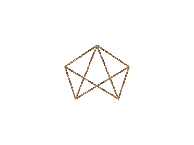 Monogram abstract brown logo monogram