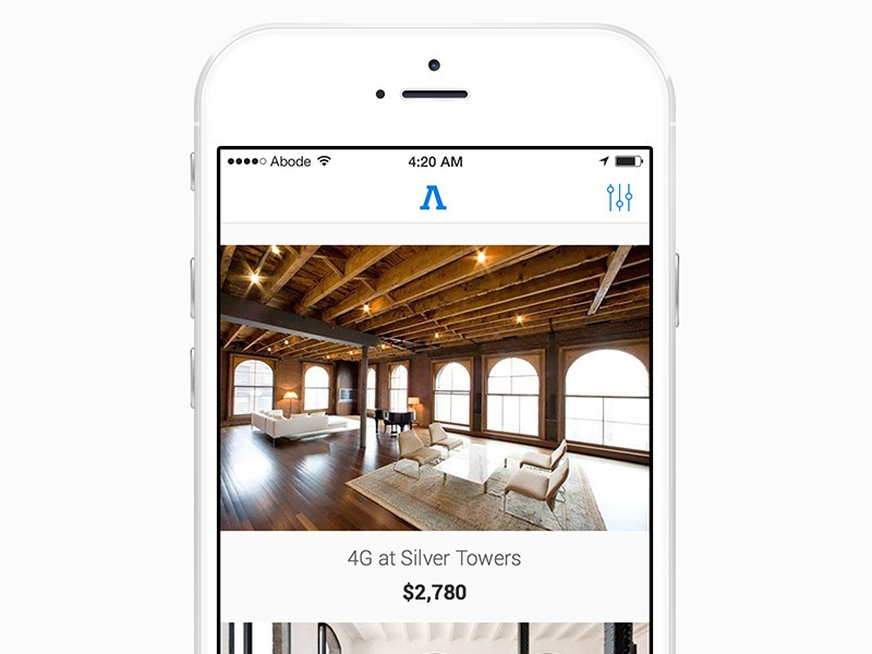 Abode for iOS iphone 6 clean app ios no fee apartment abode