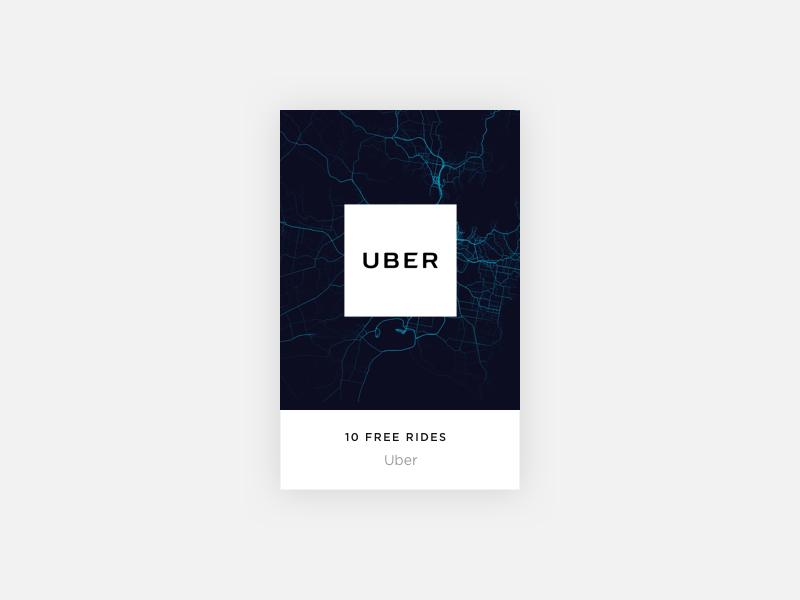 Grid Card online ui brand uber offer card grid